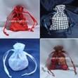 favor bags, satin bags, sparkling bags, mesh fishnet bags, metallic lame bags